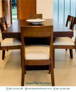 Set meja makan kayu jati